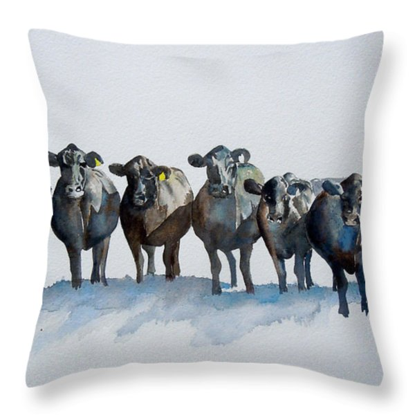 The Angus Eight Throw Pillow by Sharon Mick