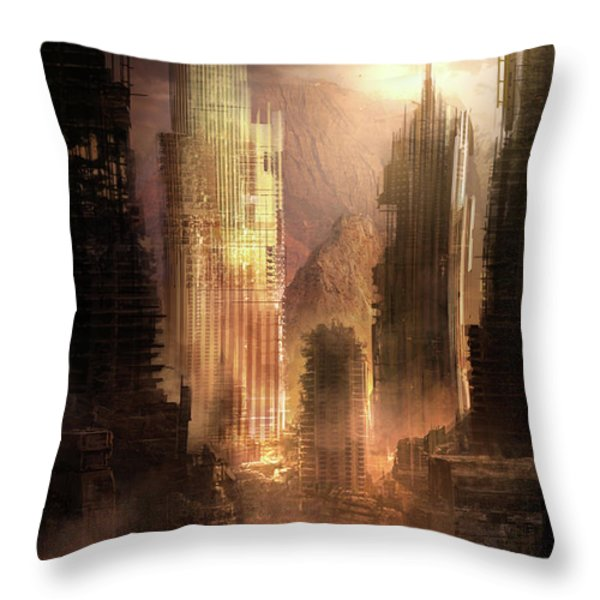 The Arrival Throw Pillow by Philip Straub