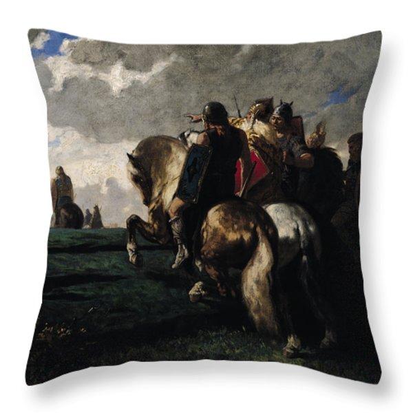 The Barbarians Before Rome Throw Pillow by Evariste Vital  Luminais