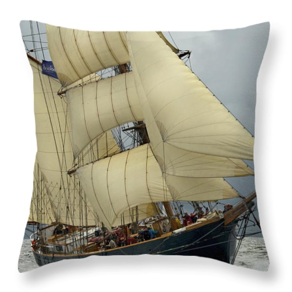 The Barkentine Loa Throw Pillow by Robert Lacy
