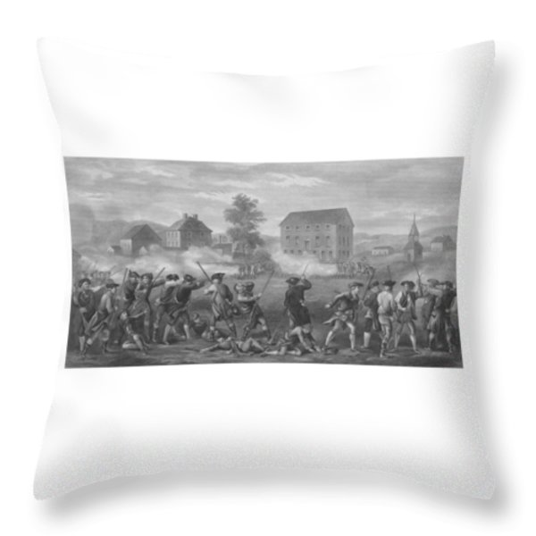 The Battle of Lexington Throw Pillow by War Is Hell Store