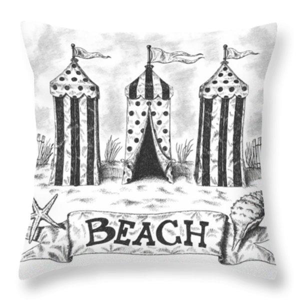 The Beach Throw Pillow by Adam Zebediah Joseph