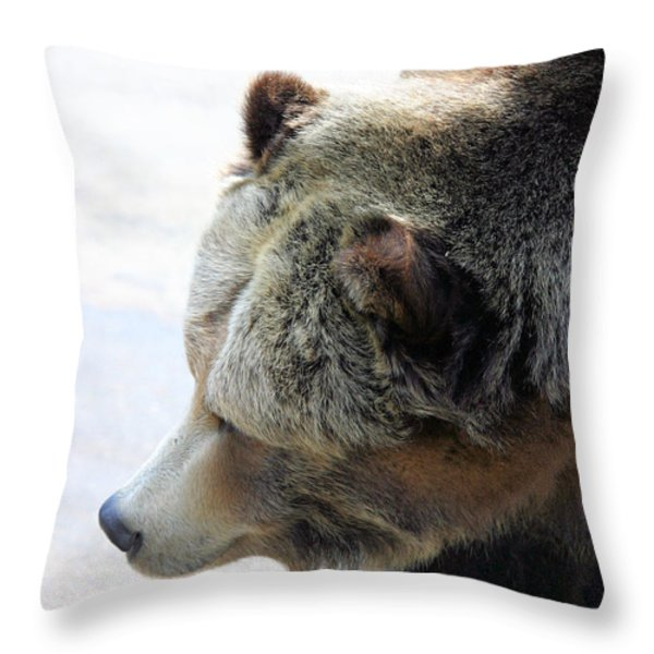 The Bear Throw Pillow by Karol Livote