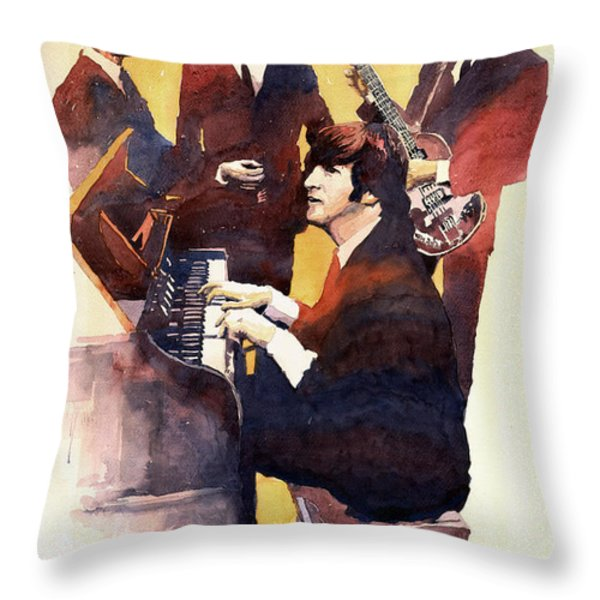 The Beatles 01 Throw Pillow by Yuriy  Shevchuk