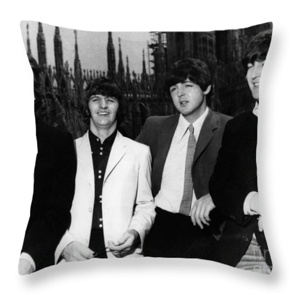 The Beatles, 1960s Throw Pillow by Granger