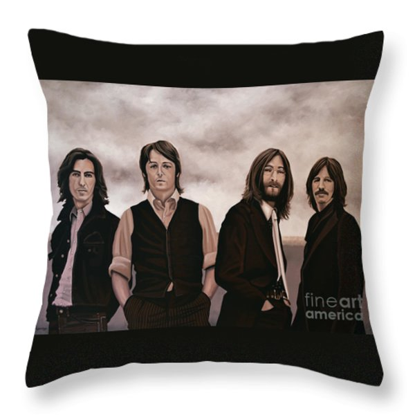 The Beatles Throw Pillow by Paul Meijering