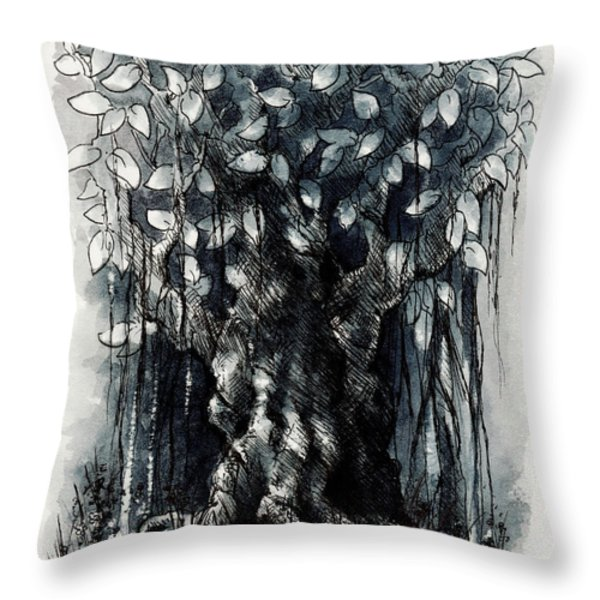 The Beautiful Tree Throw Pillow by Rachel Christine Nowicki