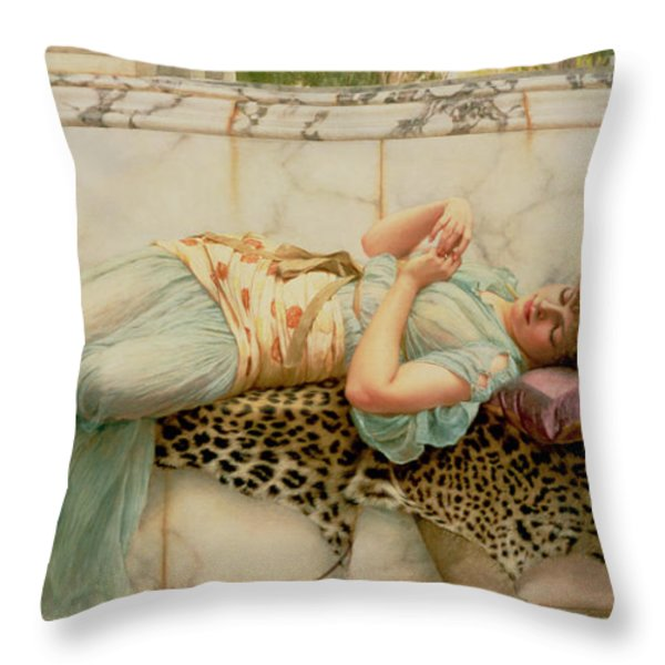 The Betrothed Throw Pillow by John William Godward