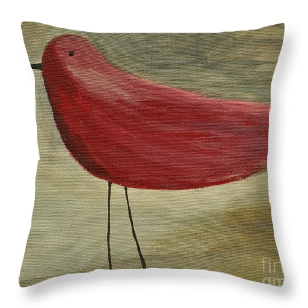 The Bird - original Throw Pillow by Variance Collections