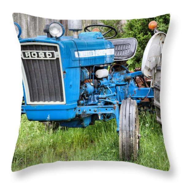 The Blue Ford Throw Pillow by JC Findley