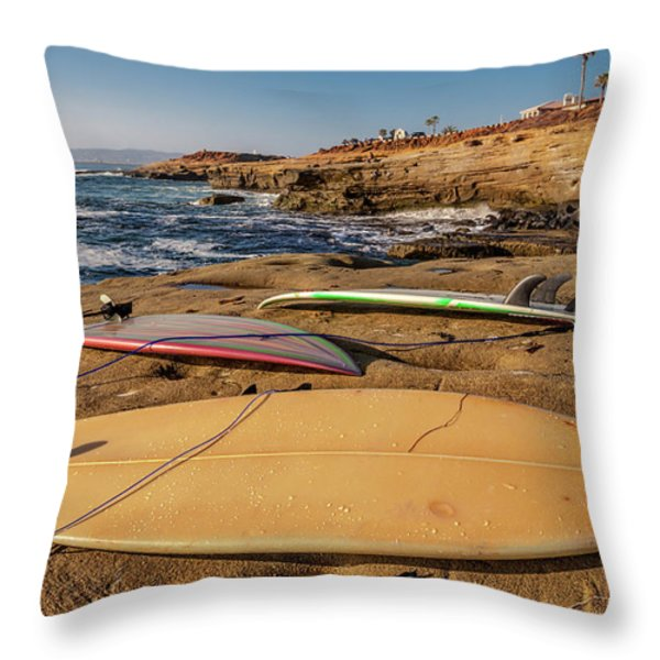 The Boards Throw Pillow by Peter Tellone