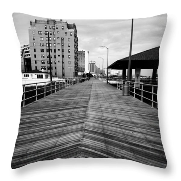 The Boardwalk Throw Pillow by Linda Sannuti