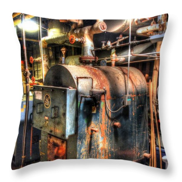 The Boiler Room Throw Pillow by Michael Garyet