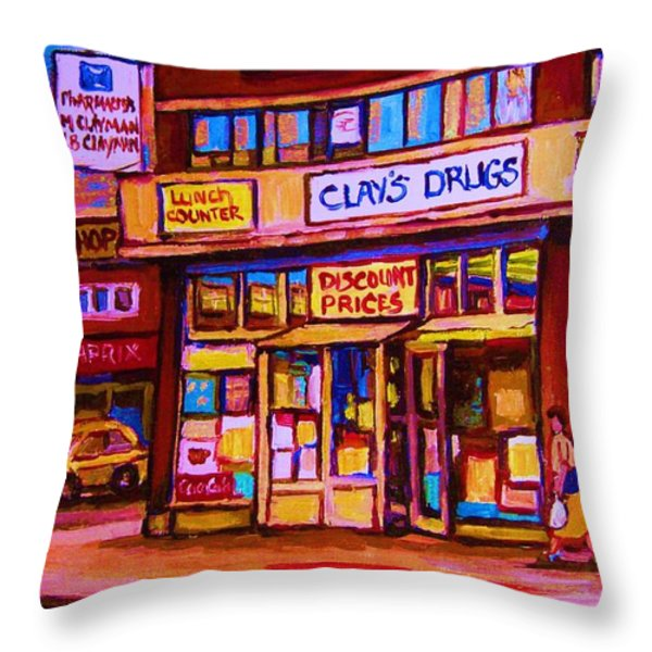 The Brown Derby Throw Pillow by Carole Spandau