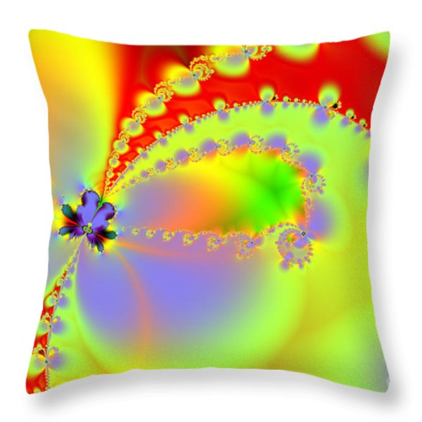 The Butterfly Effect . Summer Throw Pillow by Wingsdomain Art and Photography