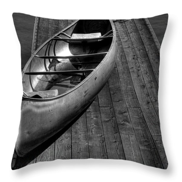 The Canoe Throw Pillow by David Patterson
