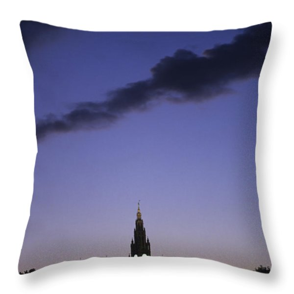 The Capitol Buildings Silhouetted Throw Pillow by Taylor S. Kennedy