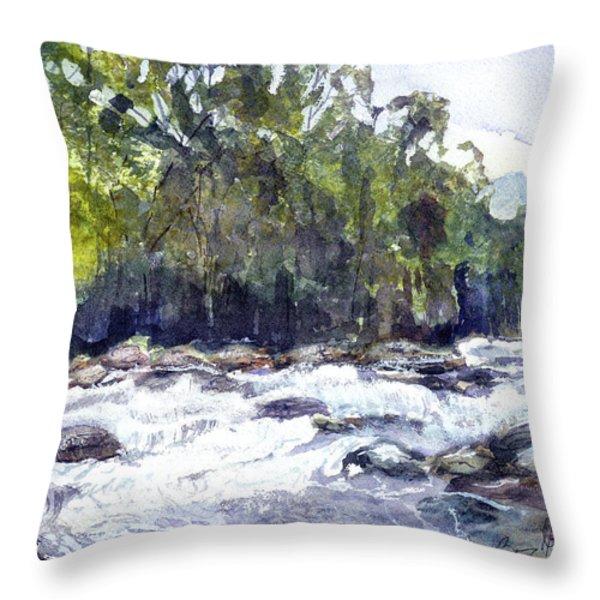The Cascades Throw Pillow by Barry Jones