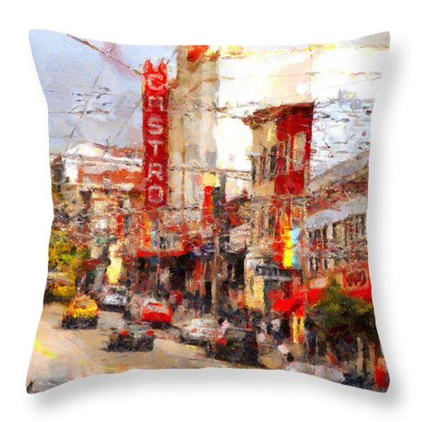 The Castro In San Francisco . 7d7572 Throw Pillow by Wingsdomain Art and Photography