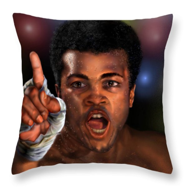 The Champ Is Here -period Throw Pillow by Reggie Duffie