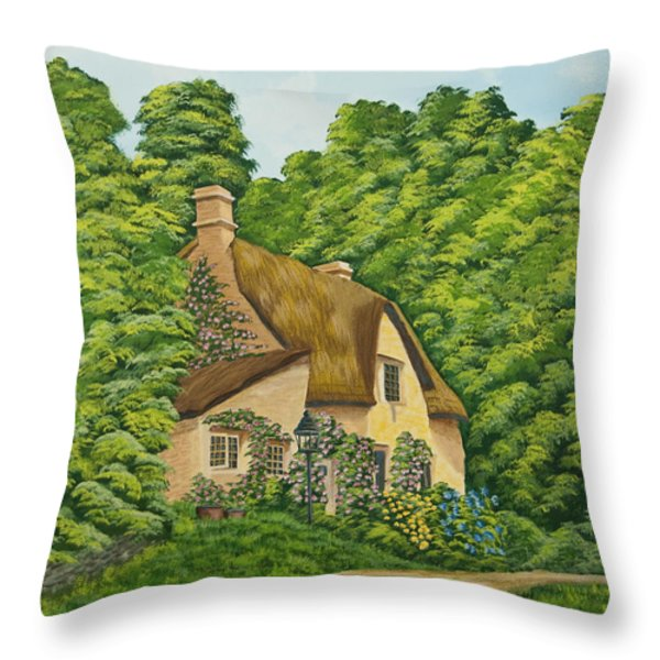 The Charm Of Wiltshire Throw Pillow by Charlotte Blanchard