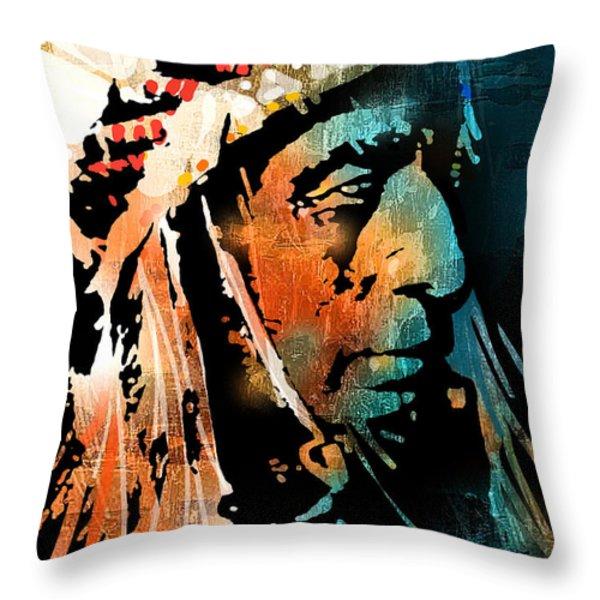 The Chief Throw Pillow by Paul Sachtleben