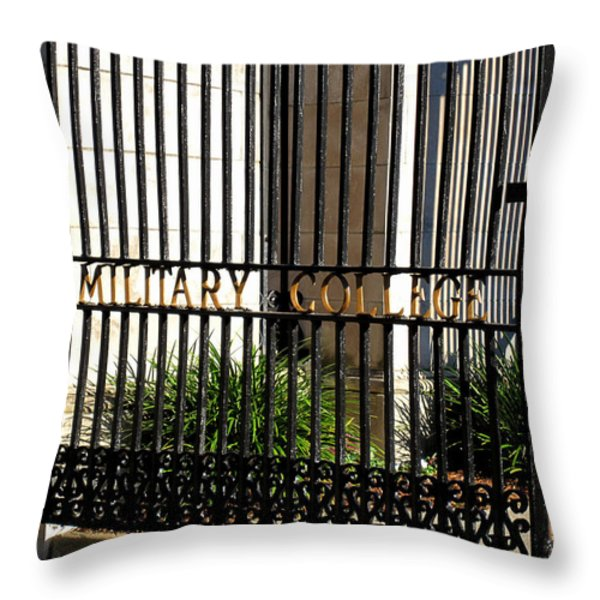 The Citadel In Charleston V Throw Pillow by Susanne Van Hulst