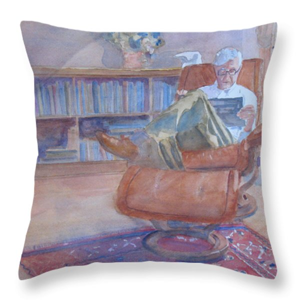 The Civilized Engineer Throw Pillow by Jenny Armitage