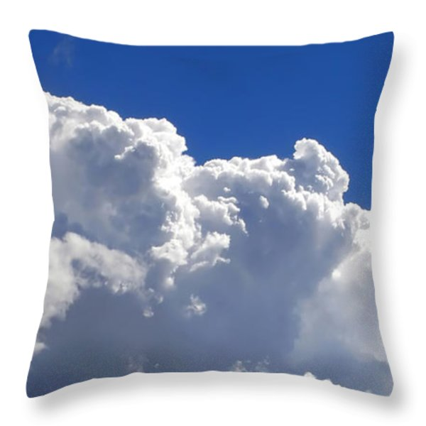 The Cloud Throw Pillow by Kaye Menner