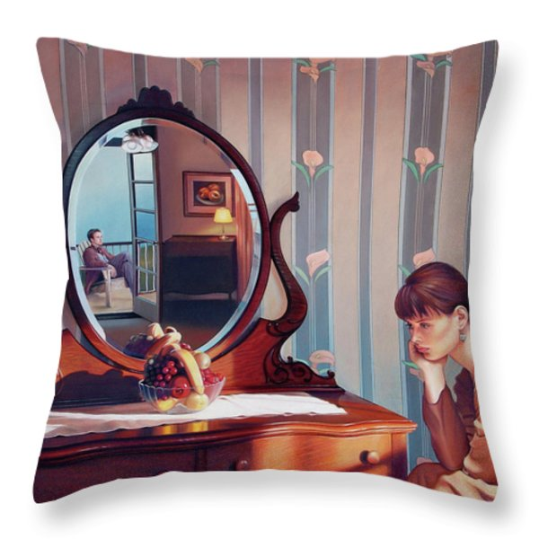 The Conversation Throw Pillow by Patrick Anthony Pierson