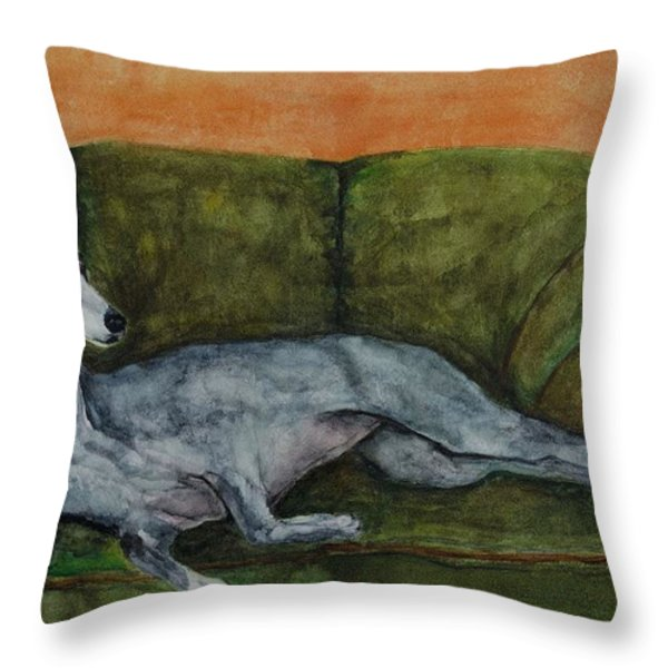 The Couch Potatoe Throw Pillow by Frances Marino