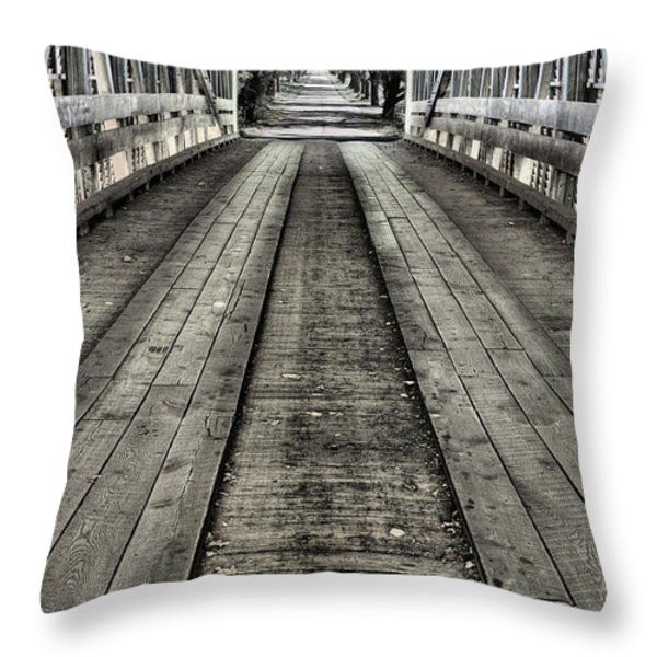 The Covered Bridge Throw Pillow by JC Findley