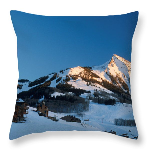 The Crested Butte Throw Pillow by Jerry McElroy