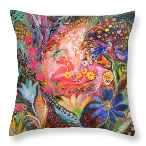 The Dance Of Flowers Throw Pillow by Elena Kotliarker