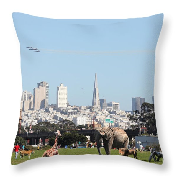 The Day the Circus Came to Town Throw Pillow by Wingsdomain Art and Photography