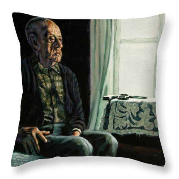 The Decision Throw Pillow by John Lautermilch