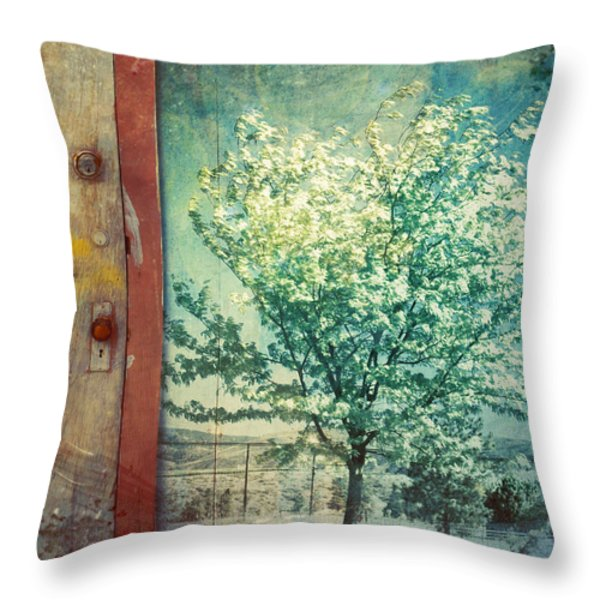 The Door And The Tree Throw Pillow by Tara Turner