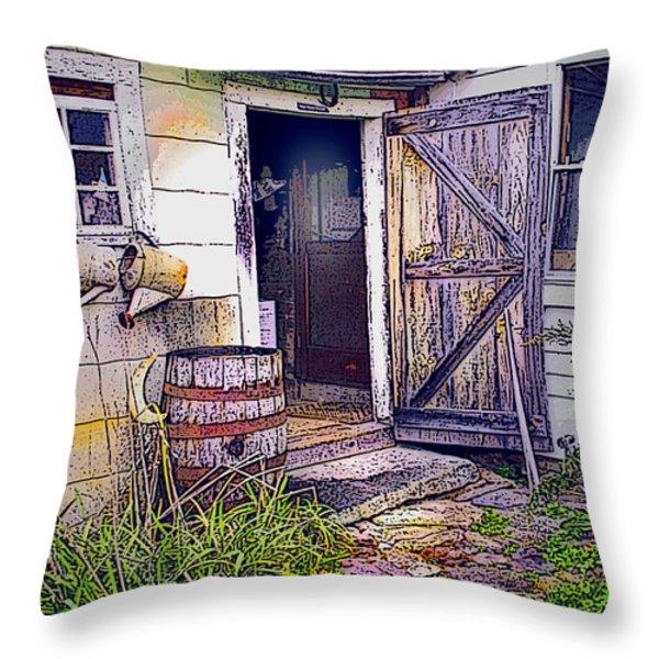 The Door Is Always Open Throw Pillow by Nancy Griswold