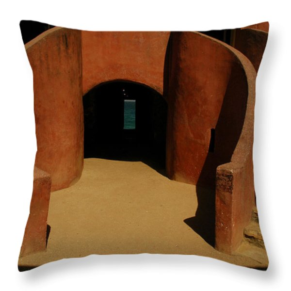 The Door Of No Return On Goree Island Throw Pillow by Bobby Model
