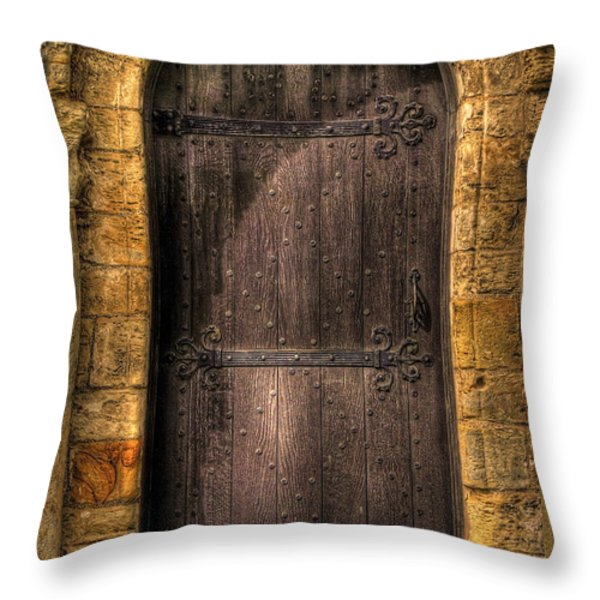 The Door Throw Pillow by Svetlana Sewell