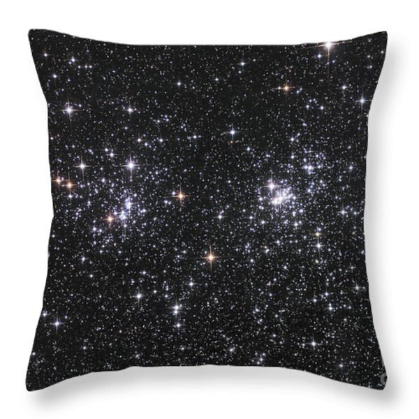 The Double Cluster, Ngc 884 And Ngc 869 Throw Pillow by Robert Gendler