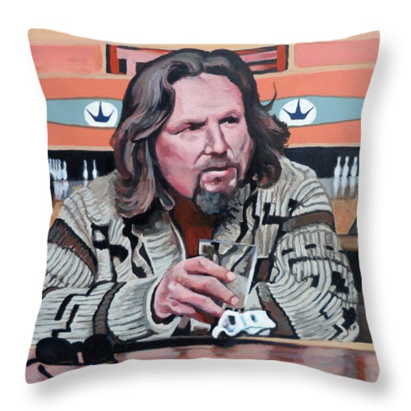 The Dude Throw Pillow by Tom Roderick