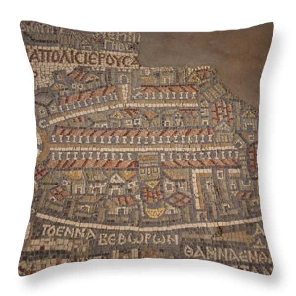 The Earliest Known Map Of The City Throw Pillow by Taylor S. Kennedy