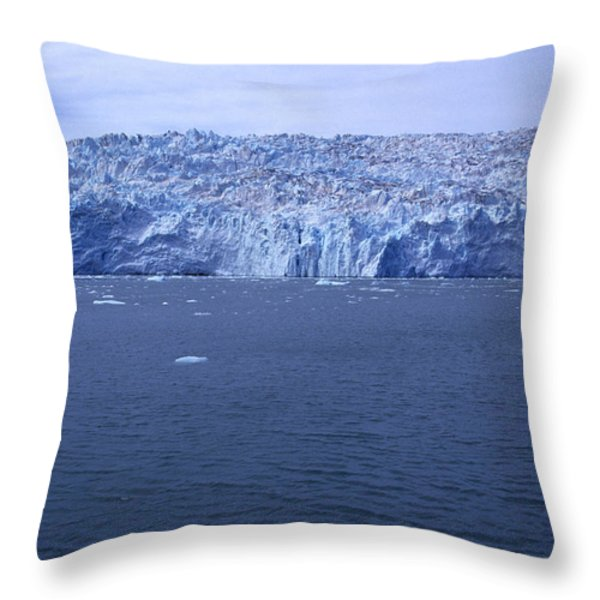 The Edge Of Columbia Glacier, Alaska Throw Pillow by Stacy Gold