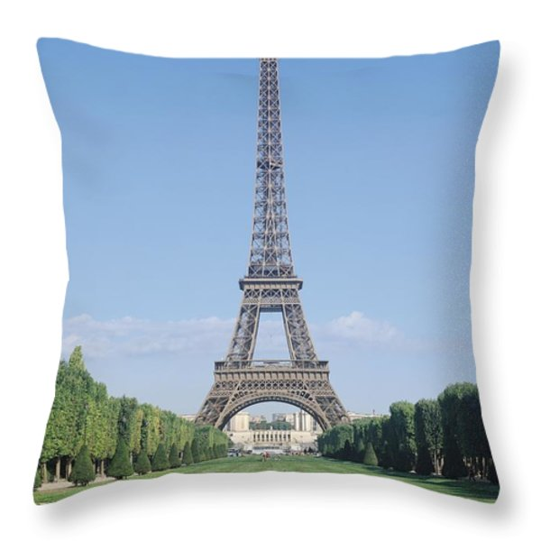 The Eiffel Tower Throw Pillow by French School