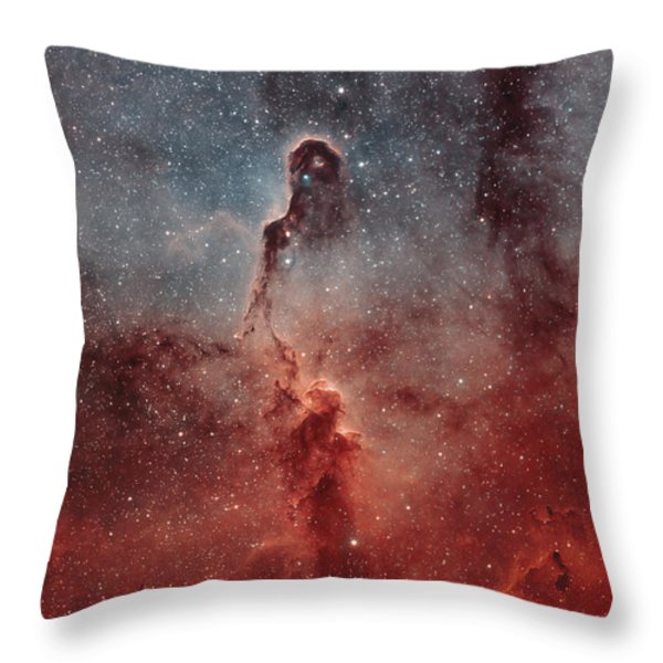 The Elephant Trunk Nebula Throw Pillow by Rolf Geissinger