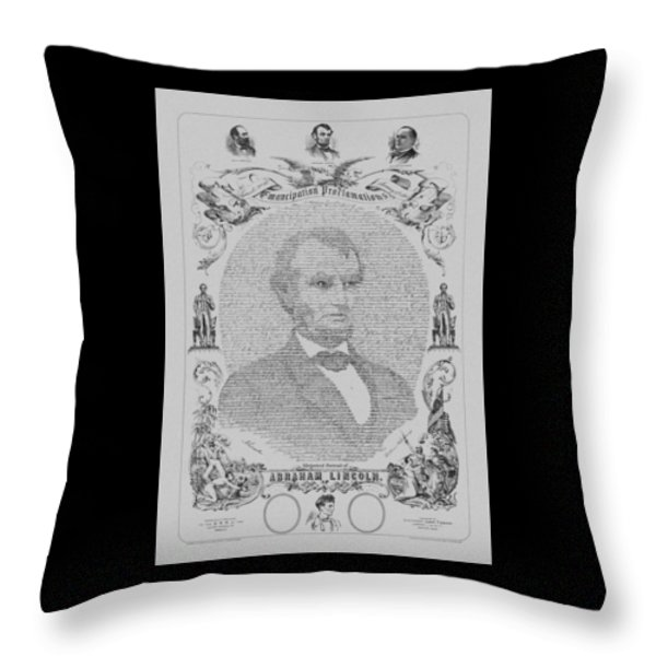The Emancipation Proclamation Throw Pillow by War Is Hell Store