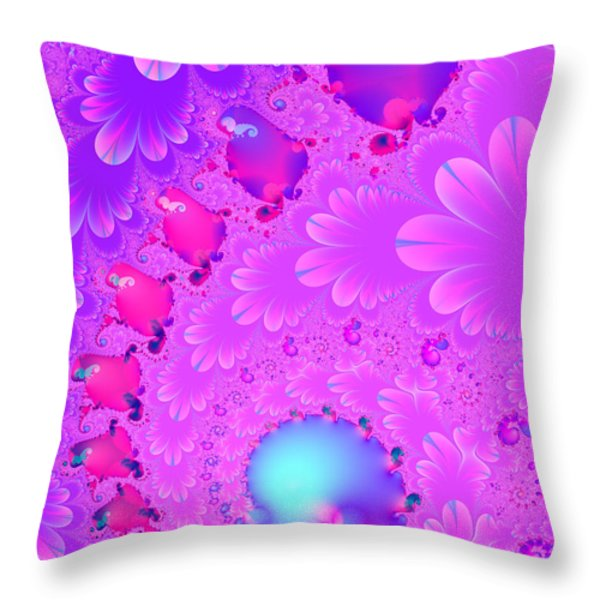 The Enchanted Forest . Version 2 . S8 Throw Pillow by Wingsdomain Art and Photography