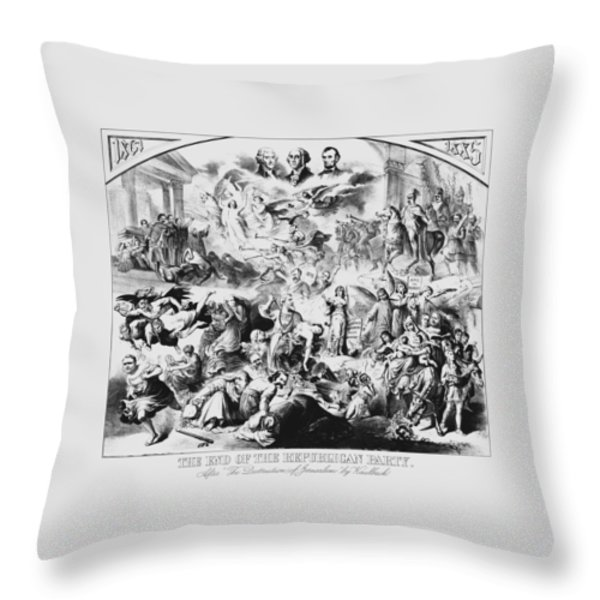 The End Of The Republican Party Throw Pillow by War Is Hell Store