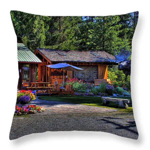 The Entree Gallery II Throw Pillow by David Patterson